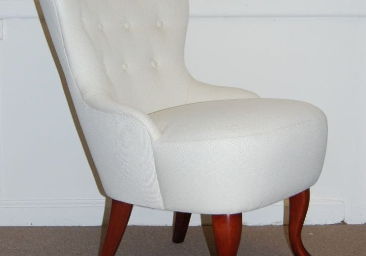 Vintage Slipper Chair With Arms