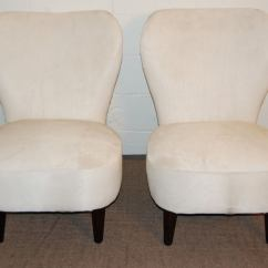 Hair On Hide Chair Tabouret Stacking Chairs Sale Pair Of Art Moderne Slipper In White