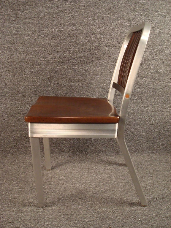 shelby williams chairs small upholstered chair for bedroom shaw walker wood and aluminum side at 1stdibs