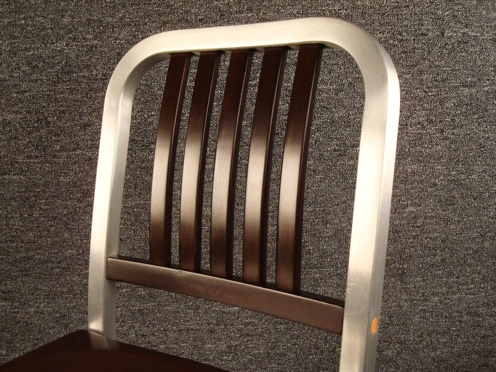 shaw walker chair club chairs swivel wood and aluminum side at 1stdibs