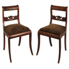 Swedish Leather Recliner Chairs Swivel Harvey Norman Pair Of Neoclassical Side At 1stdibs