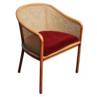 Set Of Four Ward Bennett For Brickel Cane Arm Chairs at ...