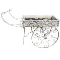 Wrought Iron Flower Cart at 1stdibs