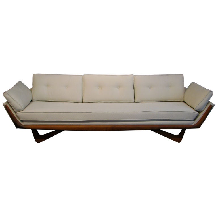 swing chair grey modern ball adrian pearsall bench seat sofa at 1stdibs