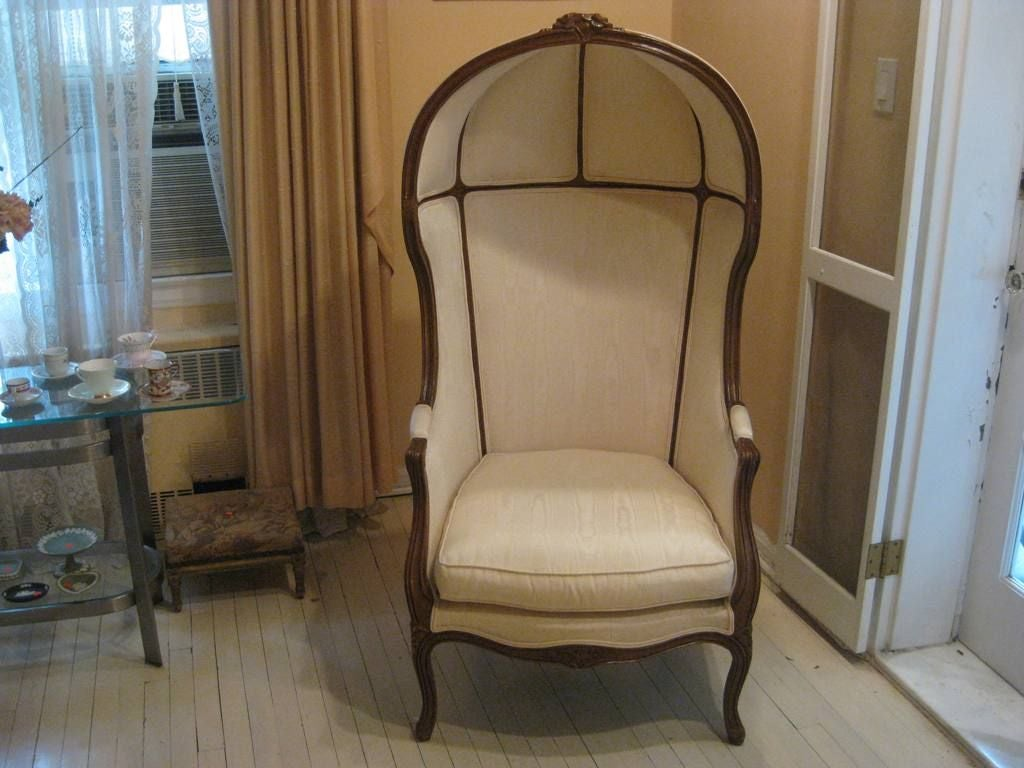 Hooded Chair French Art Deco Hooded Chair At 1stdibs