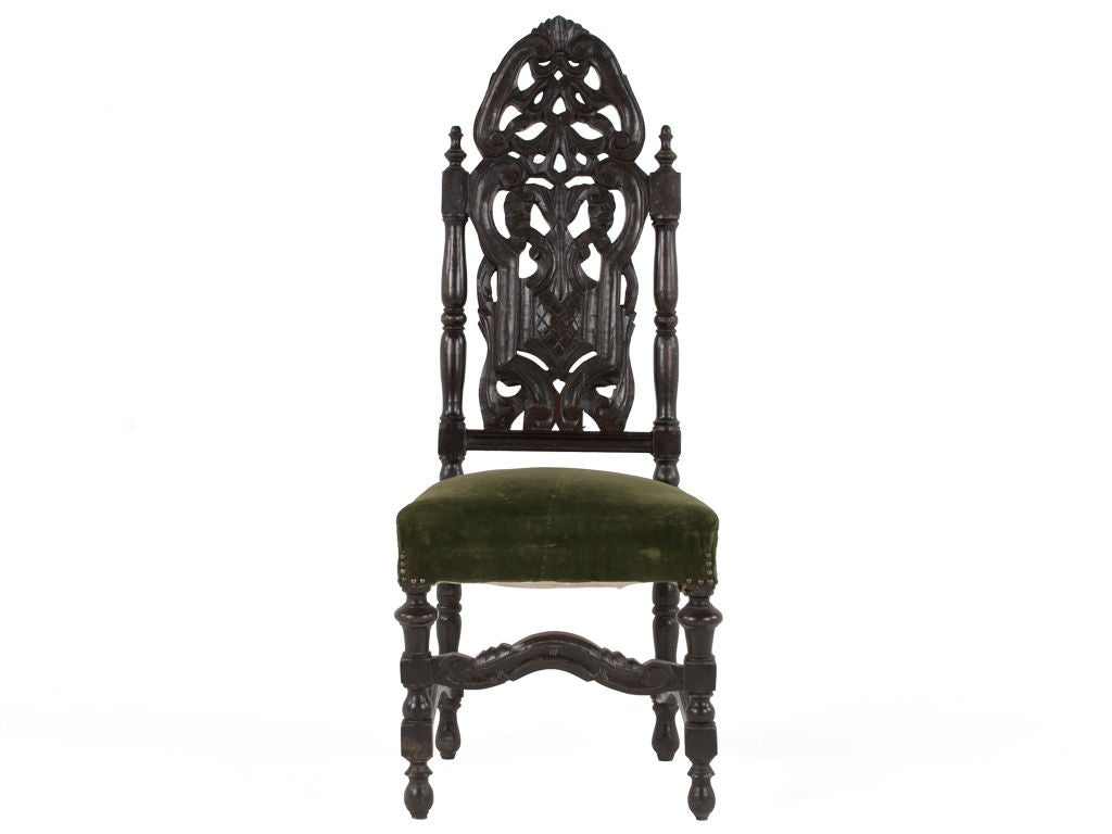 high backed throne chair pottery barn rocking wooden back at 1stdibs