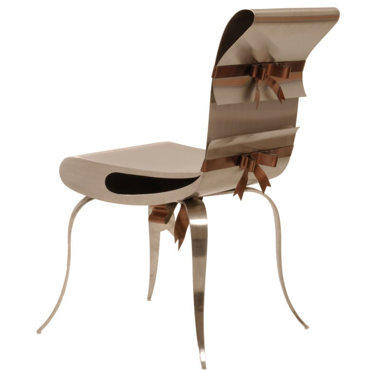 american leather swing chair adec dental chairs ribbon by maria pergay at 1stdibs