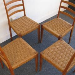 Wicker Ladder Back Chairs High Garden Chair Cushions Argos Set Of Four Italian Woven Seat Dining