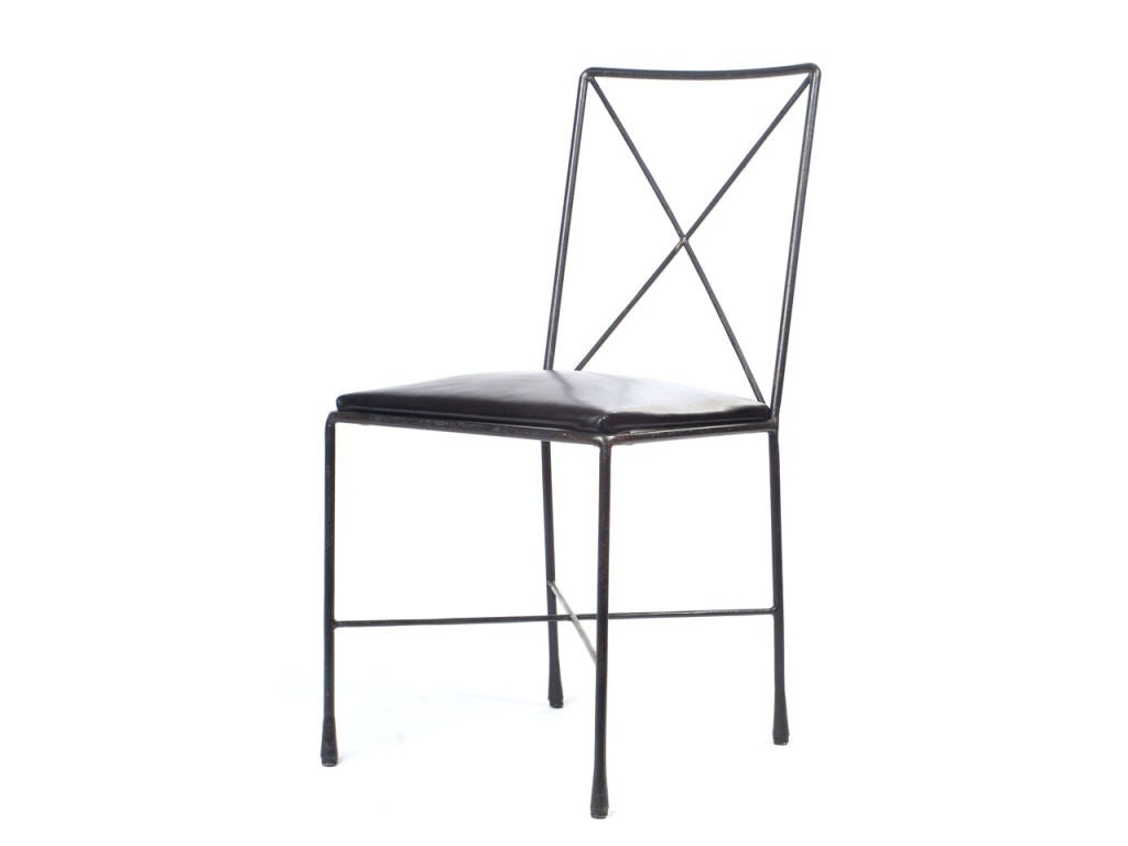 wrought iron dining chairs grey leather office chair x back designed by darrell