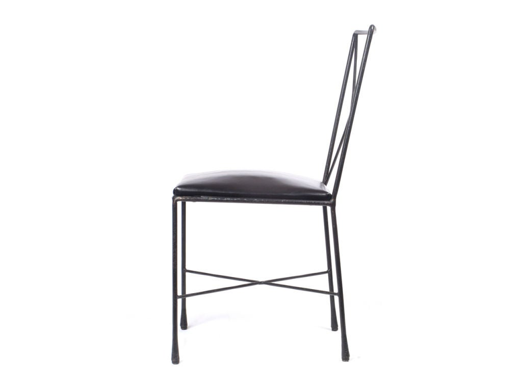 wrought iron dining chairs most relaxing chair x back designed by darrell