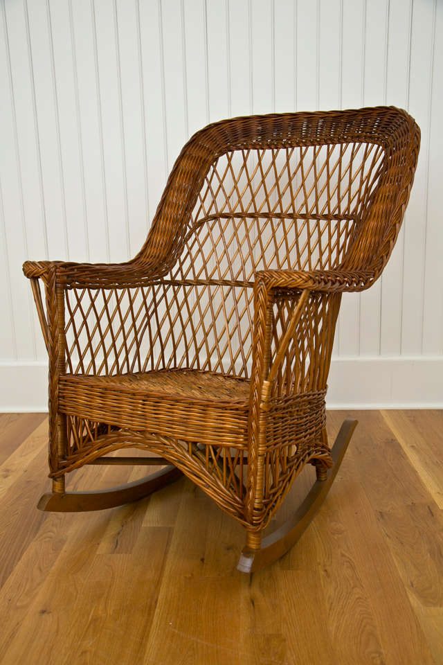 childs rattan chair swing furniture natural antique wicker rocker at 1stdibs