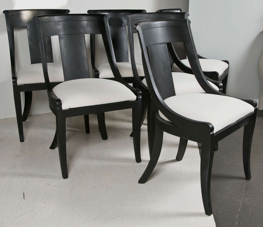 Baker Dining Chairs Set Of Six Baker Dining Chairs At 1stdibs