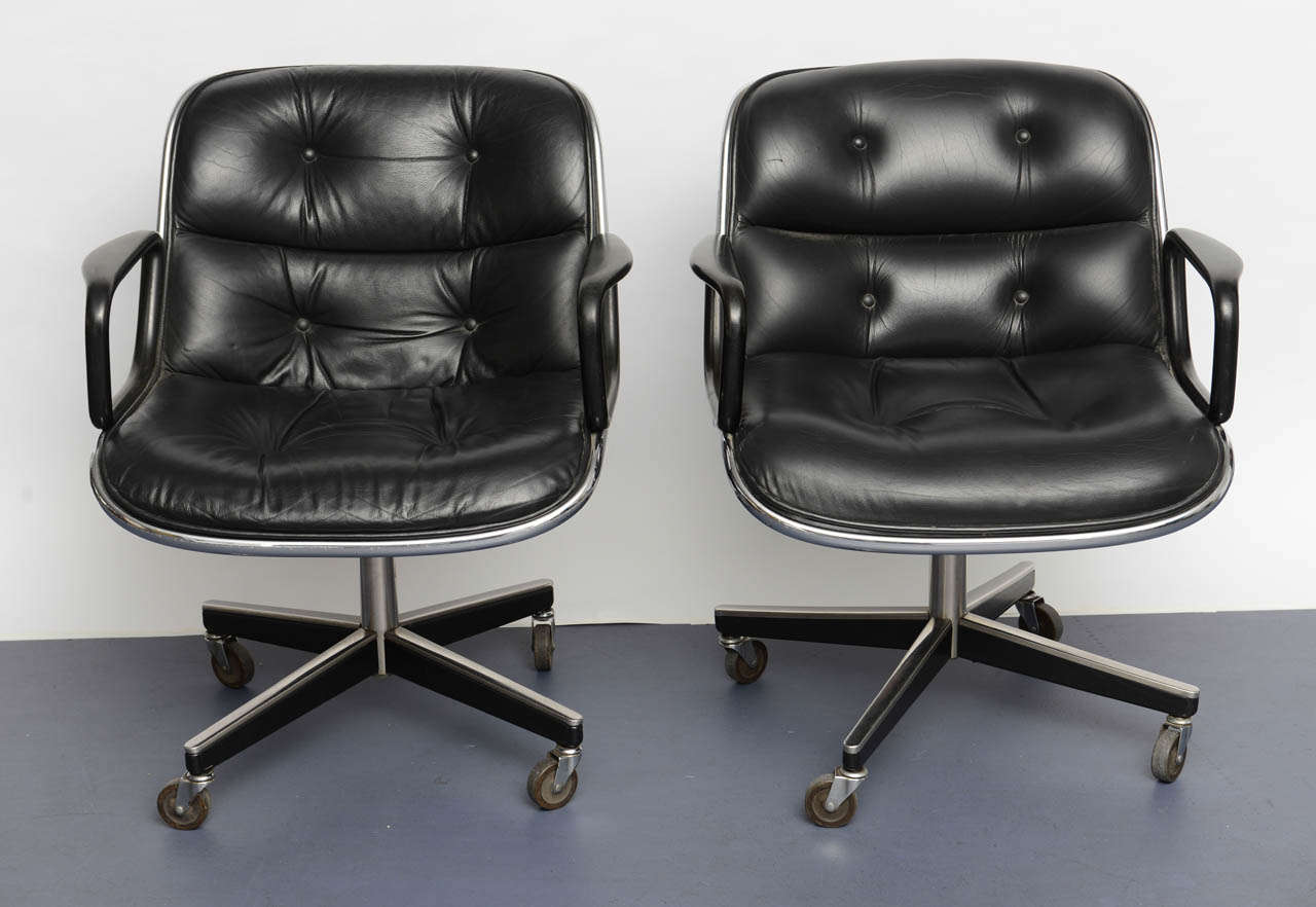 Charles Pollock Chair Pair Of Charles Pollock Executive Desk Chairs At 1stdibs