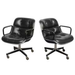 Pollock Executive Chair Replica Doll High Kmart Pair Of Charles Desk Chairs At 1stdibs