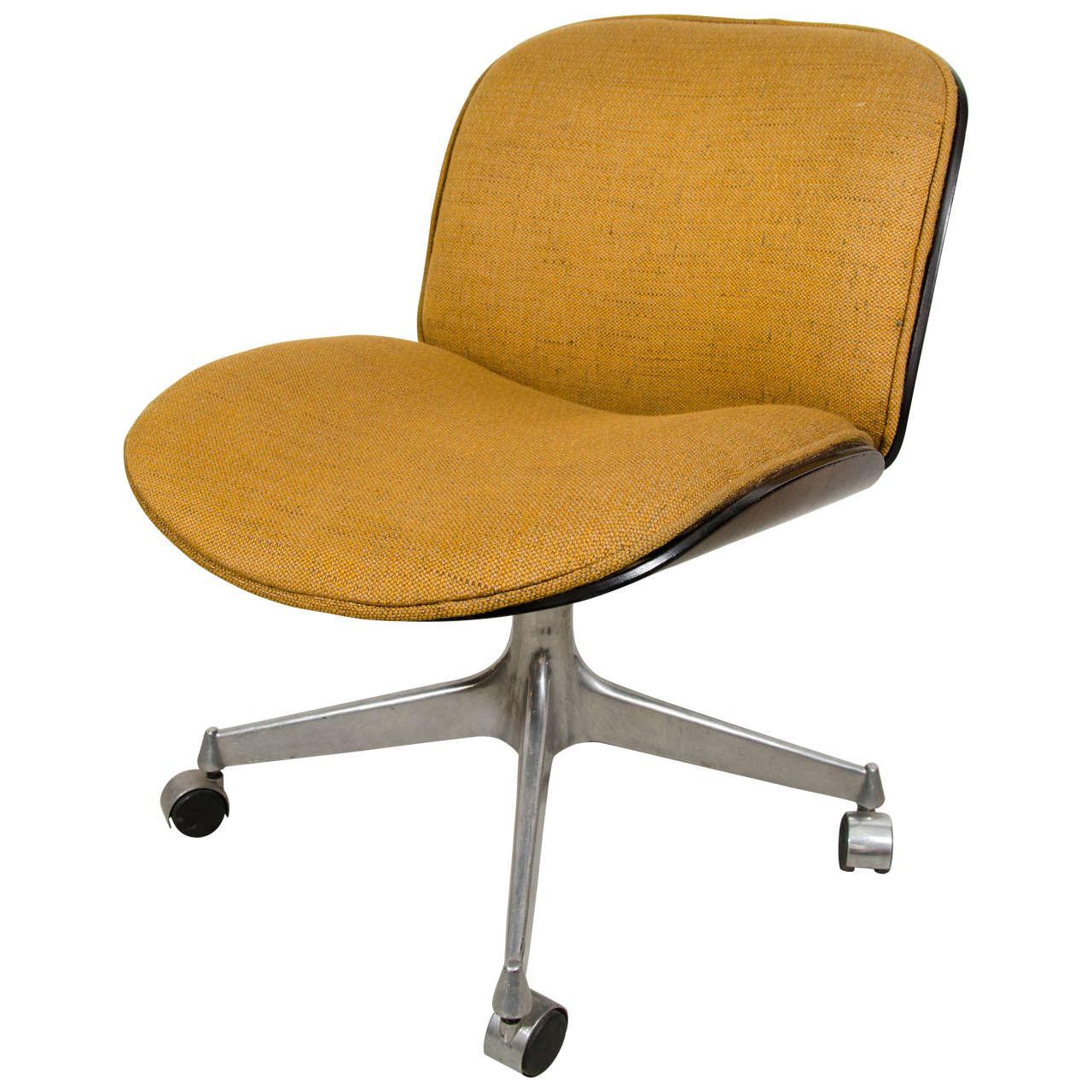 desk chair fabric sunbrella cushion ico parisi for mim with seat at 1stdibs