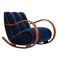 Deer Antler Rocking Chair Bar Seat Covers Elegant In Original Blue Velvet Upholstery