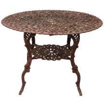 Late 19th Century Victorian Cast Iron Table 1stdibs