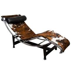 Corbusier Lounge Chair Tablet Arm Chairs A Mid Century Le Lc4 In Cowhide At