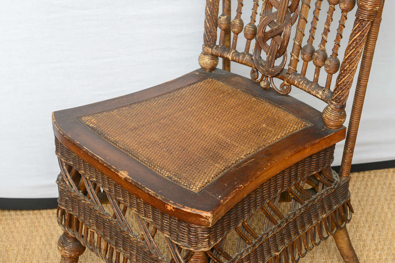 heywood wakefield dogbone chairs chair cover hire high wycombe rare wicker at 1stdibs
