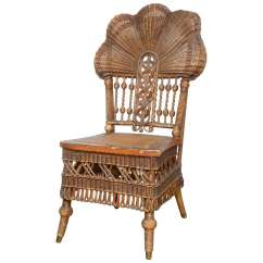 Heywood Wakefield Chairs Small For Living Room Rare Wicker Chair At 1stdibs