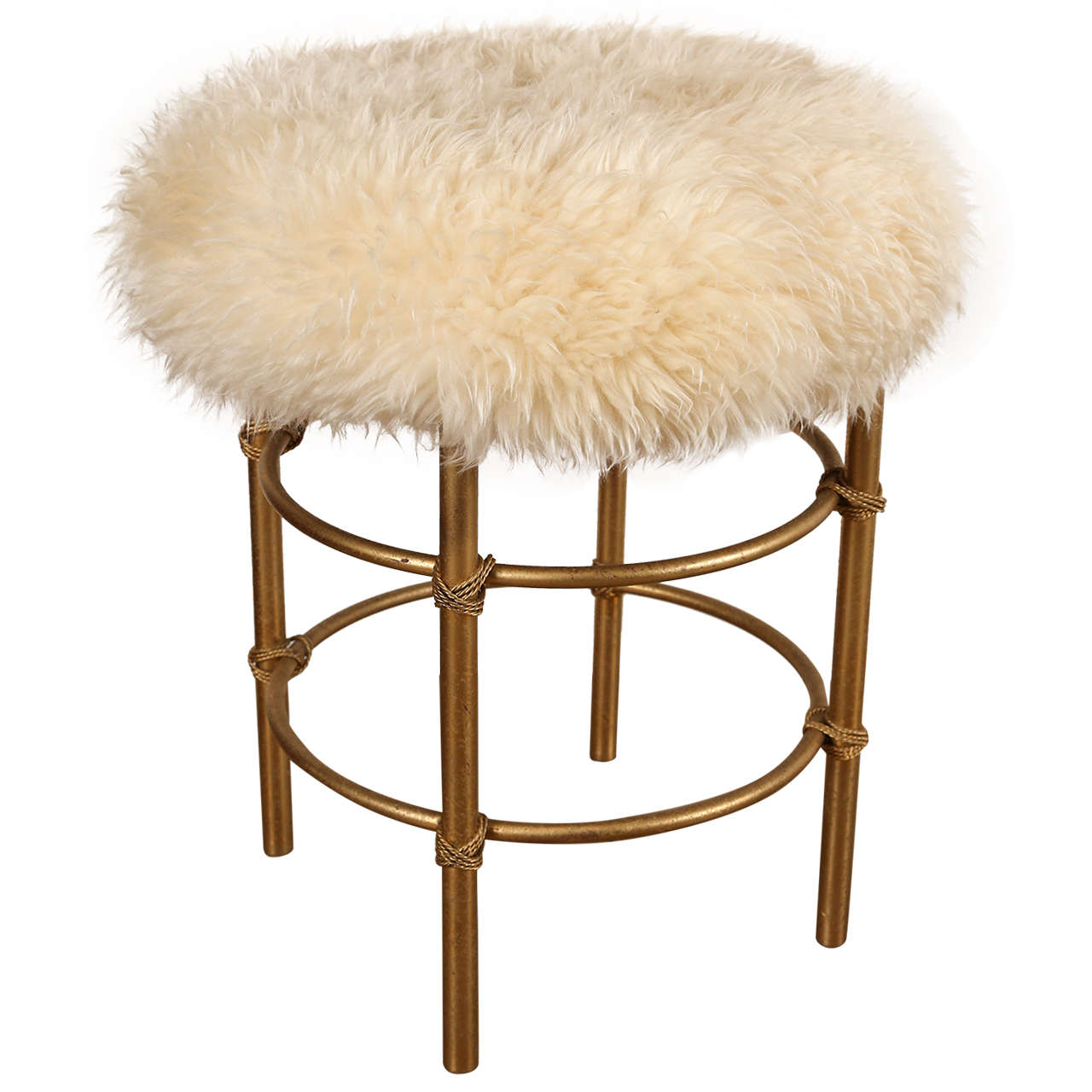 vanity chair white fur covers for plastic chairs sheepskin stool sale at 1stdibs