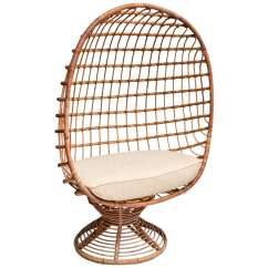 Outdoor Canopy Chair Circle Bungee Cord Enclosed Bamboo With Upholstered Seat Cushion For Sale