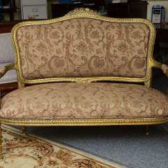 2 Seater Love Chair Flat Bean Bag Superb French Gilt Two Or Seat With Chairs