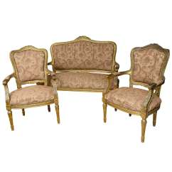 2 Seater Love Chair Vintage Wedding Sashes Superb French Gilt Two Or Seat With Chairs