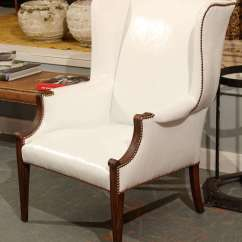 White Leather Wingback Chair Rio Gear Backpack At 1stdibs
