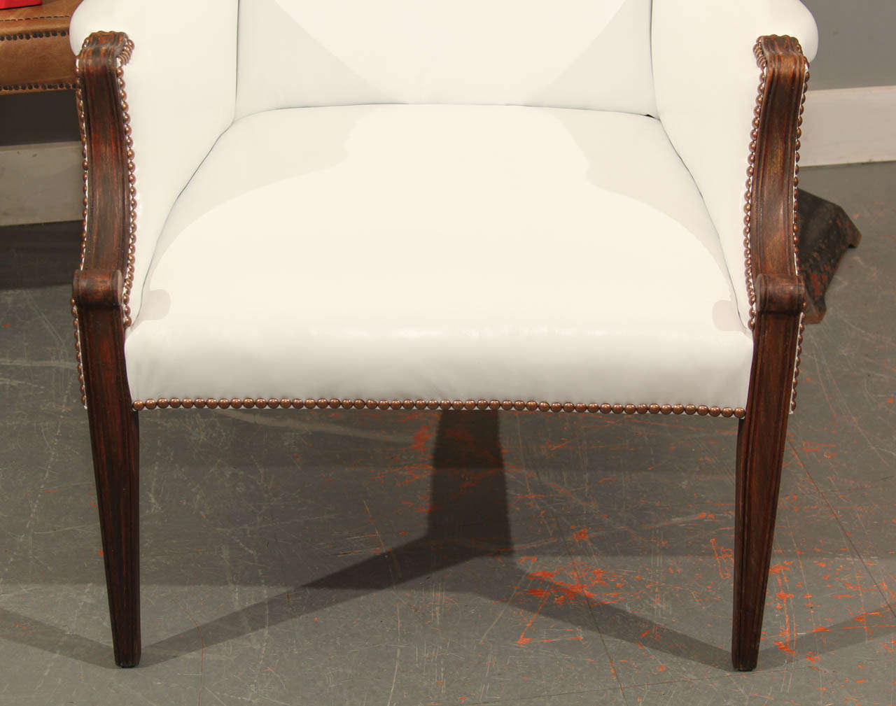 white leather wingback chair shampoo chairs for sale at 1stdibs