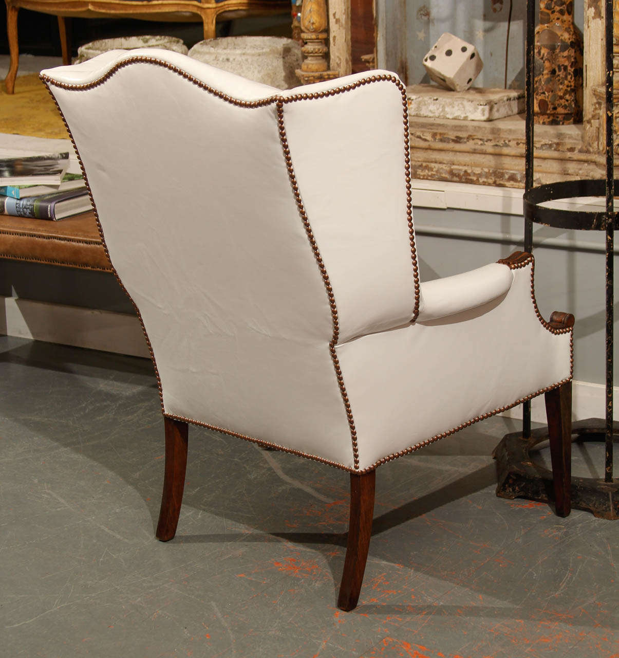 white leather wingback chair chromcraft dining chairs at 1stdibs