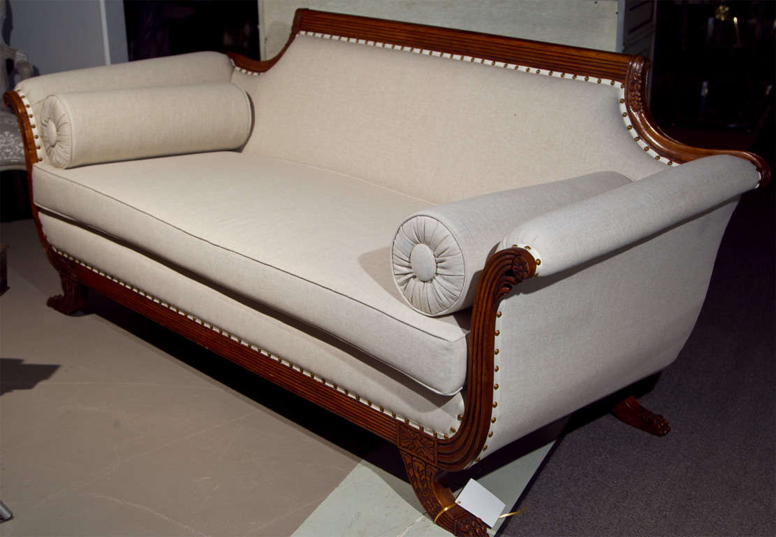 duncan phyfe chairs redo sling patio fabulous style sofa all new upholstery at 1stdibs
