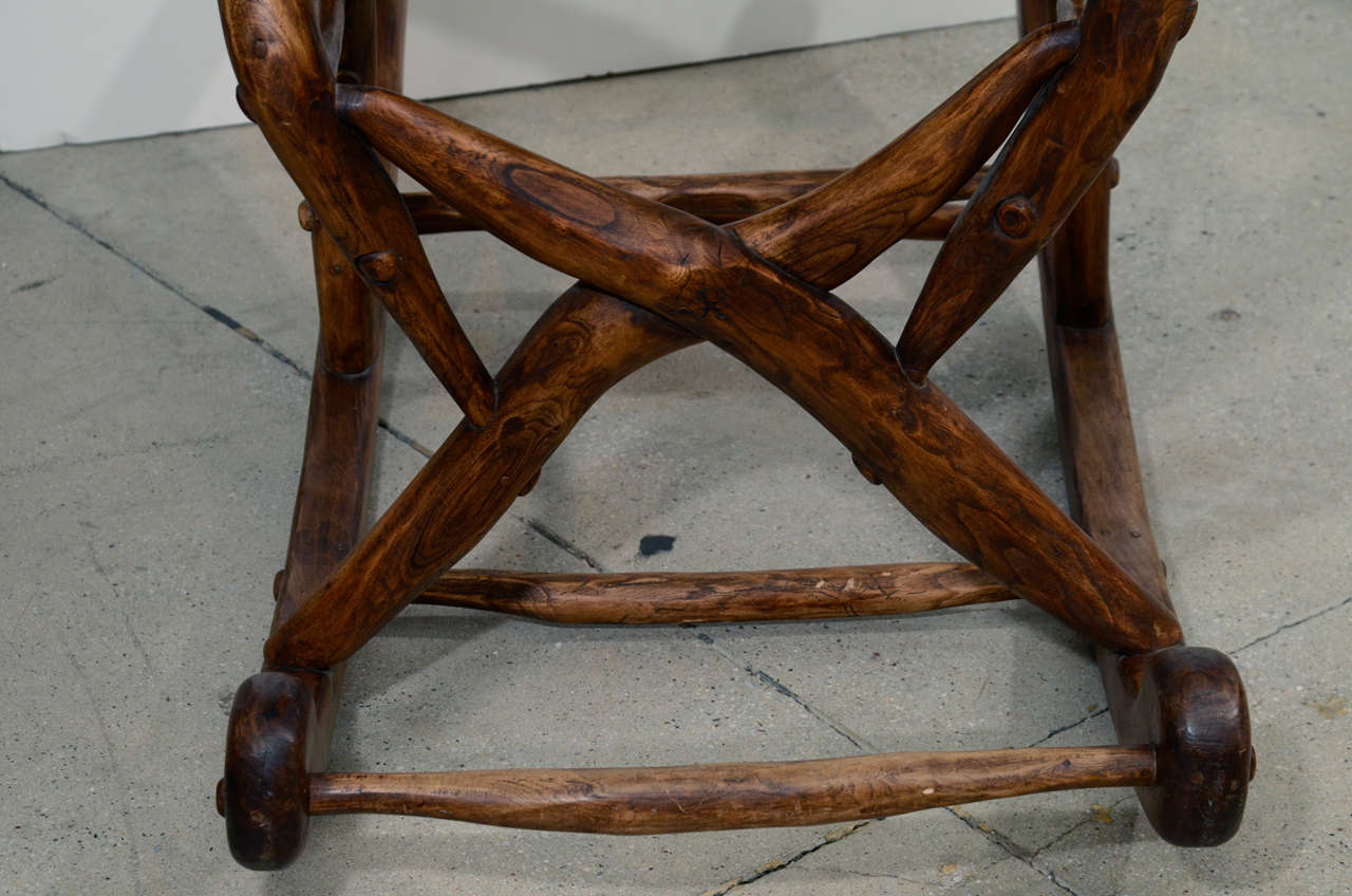 tree branch rocking chair ergonomic hong kong folk art for sale at 1stdibs