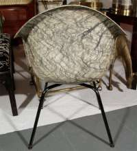 Patterned Fiberglass Chair att. Luther Conover at 1stdibs