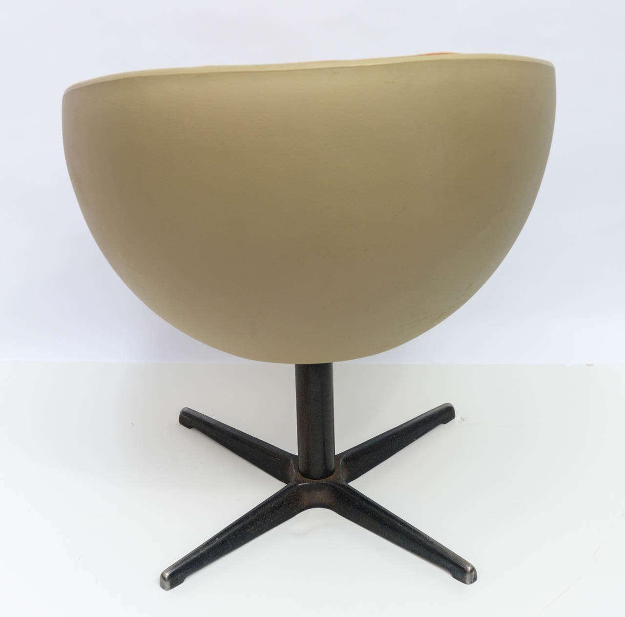 egg desk chair table rental 1960s ball swivel at 1stdibs