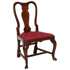 Queen Ann Chairs Office Chair For Back Pain 18th Century American Anne Mahogany Side