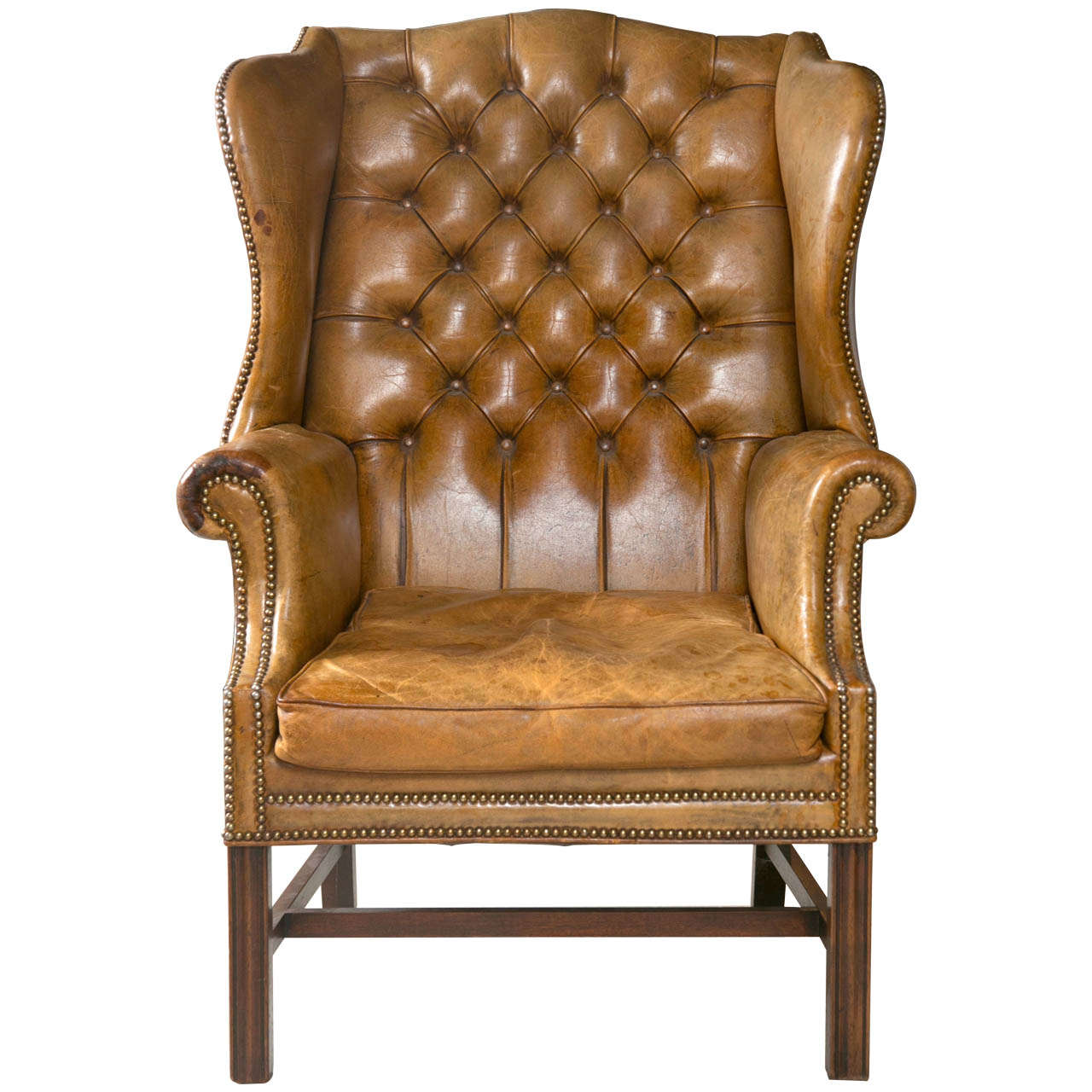 leather wingback chairs south africa white resin wicker 1920 s chair at 1stdibs for sale