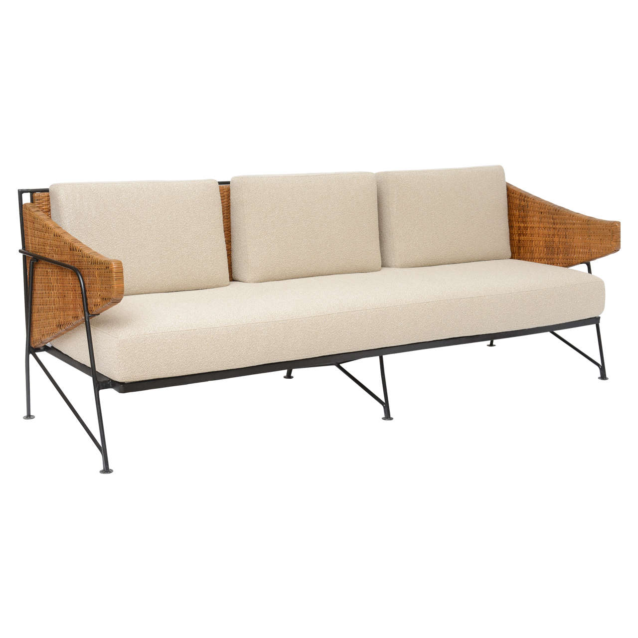 wrought iron sofa set online 100 cotton slipcovers and wicker by maurizio tempestini for