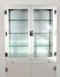 Vintage 1950s Metal Medicine Cabinet at 1stdibs