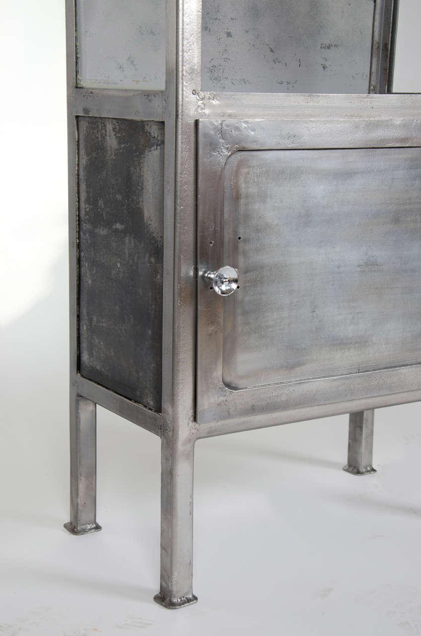 Vintage 1930s Polished Metal Medicine Cabinet 1stdibs
