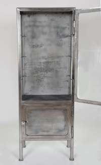 Vintage 1930s Polished Metal Medicine Cabinet at 1stdibs