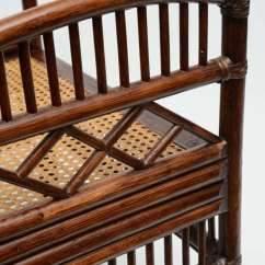 Bamboo Cane Back Chairs New Herman Miller Aeron Chair Review Pair Of Vintage Rattan Barrel At 1stdibs