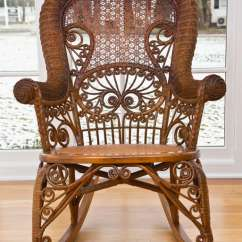Antique Wicker Chairs Fritz Hansen Office Chair Victorian Rocker At 1stdibs For Sale Elegant In Natural Honey Toned Finish