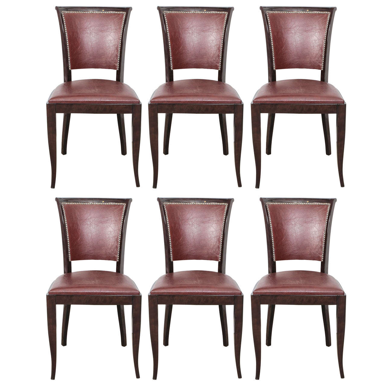 set of six dining chairs for sale floor chair protectors french 1940s at 1stdibs