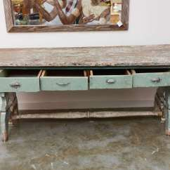 Country Primitive Sofa Tables Reclining Furniture Table At 1stdibs