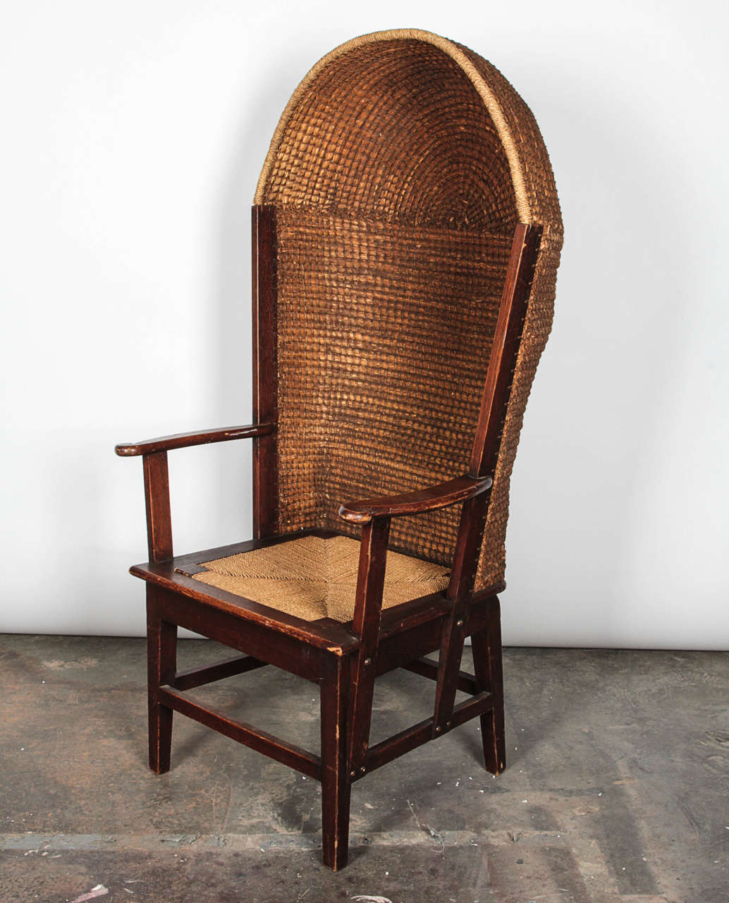 Porter Chair Wood And Reed Orkney Porter Chair At 1stdibs
