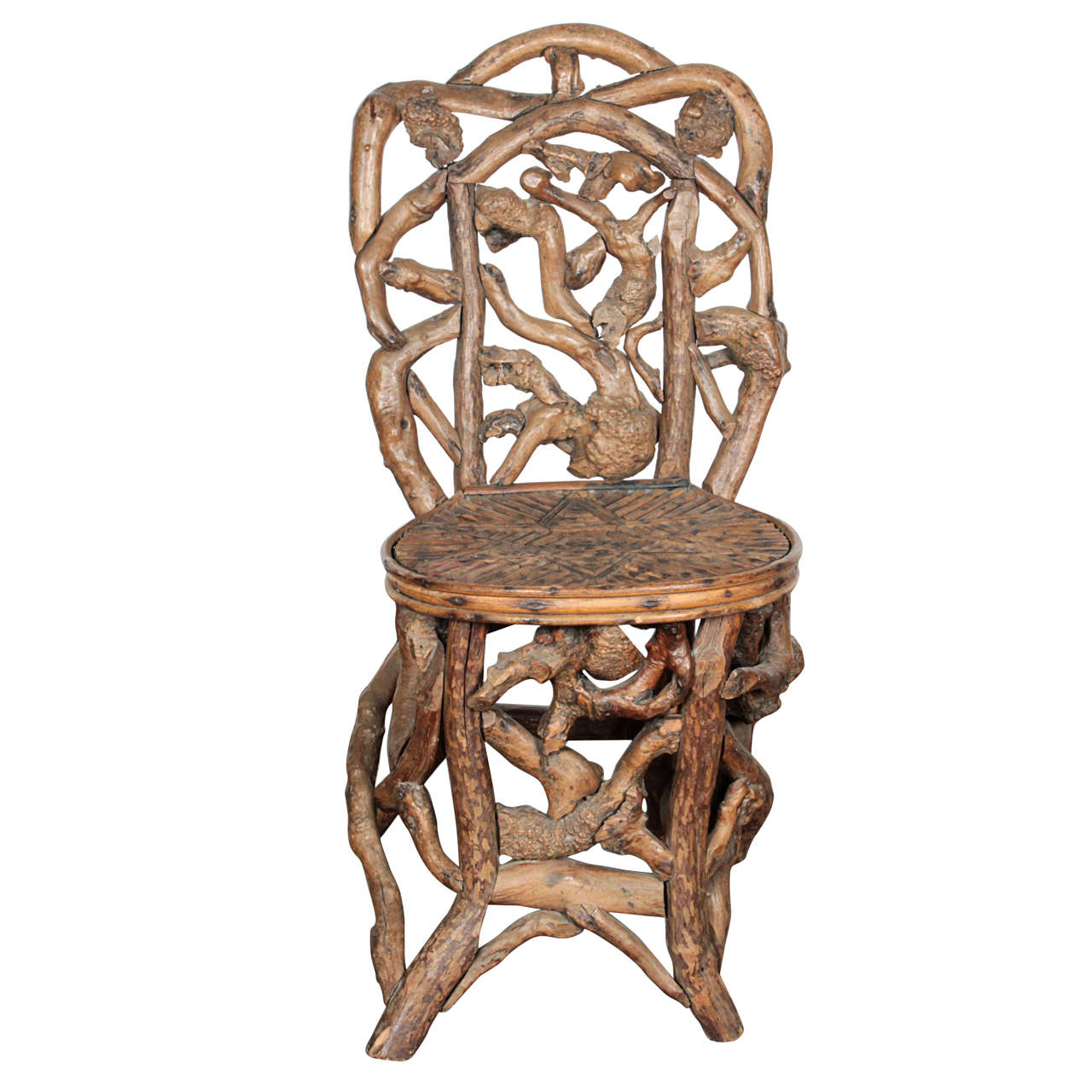 Driftwood Chair Artisan Driftwood Side Chair For Sale At 1stdibs