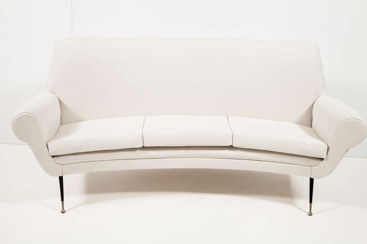 sofa ball stopper faux leather bed with storage italian three seat at 1stdibs