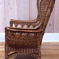 Wicker Wingback Chairs Loose Dining Chair Covers Ireland Heywood Wakefield Bar Harbor At 1stdibs 20th Century For Sale