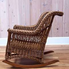 Heywood Wakefield Wicker Chairs Garden Swing Chair Rocker At 1stdibs American For Sale